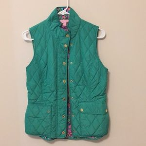 Green quilted Lilly Pulitzer vest